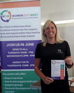 Rachel Holliday promoting women out west cumbria 400 x 500