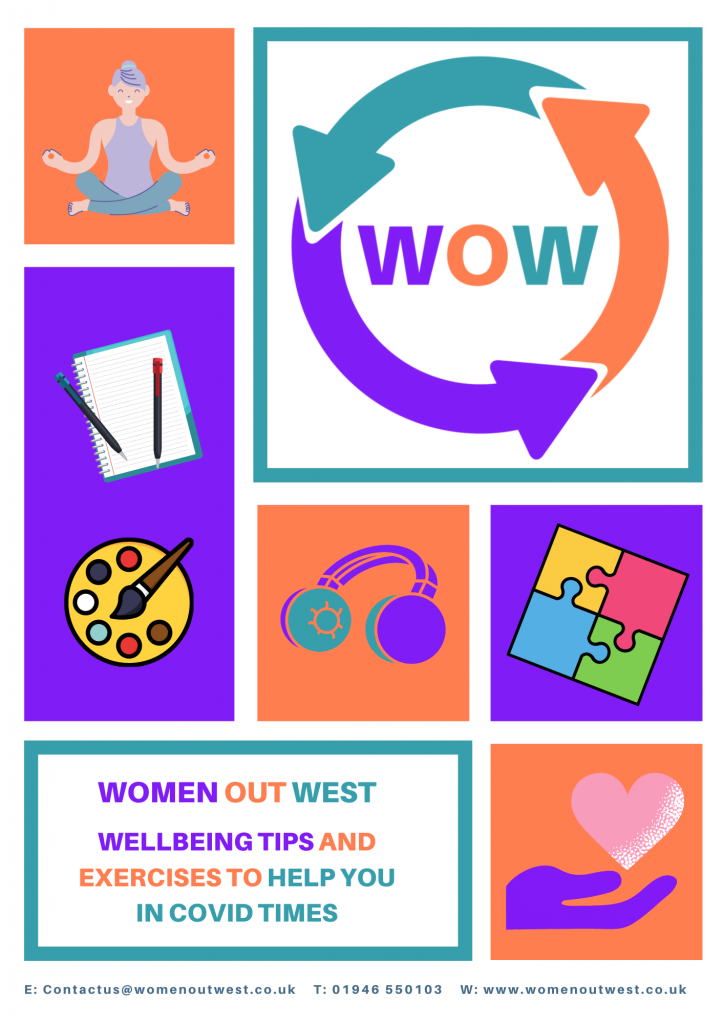 Women Out West Wellbeing in Covid Tips & Workbook cover